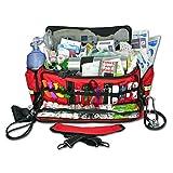 Lightning X Jumbo Oxygen Medic First Responder EMT/EMS Bag - Stocked Trauma First Aid Kit LXMB50-SKD (Red)