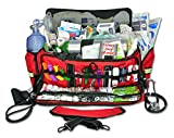 Lightning X Jumbo Oxygen Medic First Responder EMT/EMS Bag Stocked Trauma Kit LXMB50-SKD (Red)