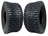 MASSFX Lawn & Garden Mower Tires 15x6-6 MO1566 4 PLY 6mm Tread 2 Tire Set
