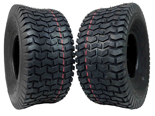 Tires Lawn Garden - MASSFX Lawn & Garden Mower Tires 15x6-6 MO1566 4 PLY 6mm Tread 2 Tire Set