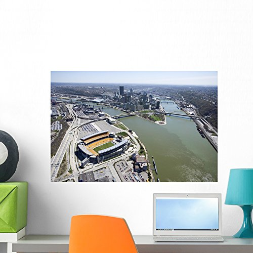 Pittsburgh Pennsylvania Wall Mural by Wallmonkeys Peel and Stick Graphic (24 in W x 16 in H) - Pittsburgh Waterfront