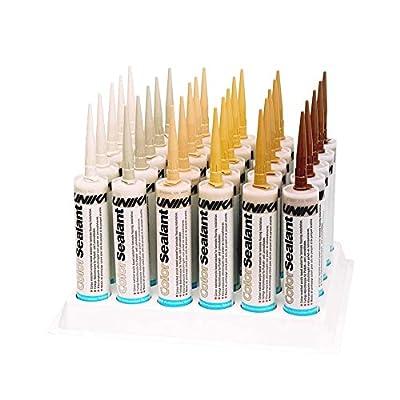 Unika ColorSealant 310ml Acrylic Gap Filler Mastic. Wood Colours. Waterproof [ Medium Oak (CS4222) ]