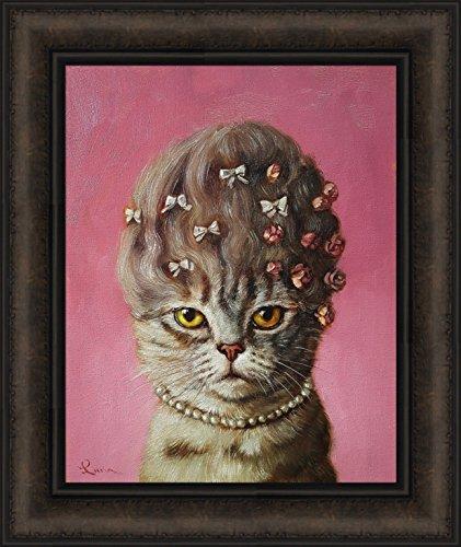 Marie Catoinette by Lucia Heffernan 16x19 Humorous Antoinette Spoof Cat Hair Updo Funny Art Framed Print Picture