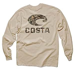 Costa Del Mar Realtree Max-4 Camo Long Sleeve T-Shirt, Tan, Small