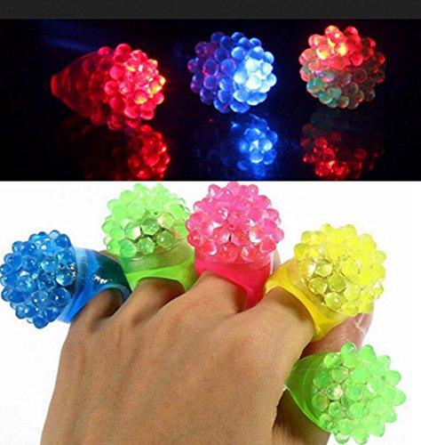 Fengge 12pcs forma di fragola lampeggiante LED Lampada a dita luminoso (colore casuale)