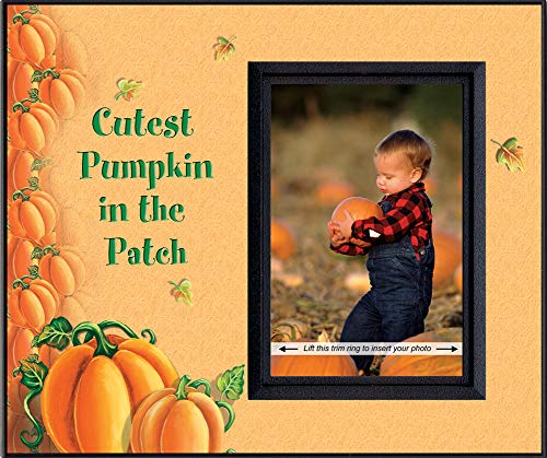 Cutest Pumpkin in the Patch Blk - Halloween Picture Frame Gift ()