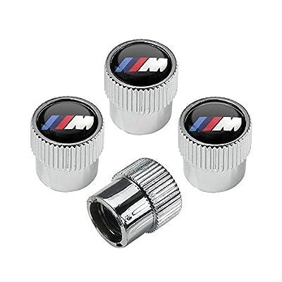 hongyangfumeilai HYFML M Logo zinc Alloy Plating Chrome Tire Stem Valve Caps: Automotive
