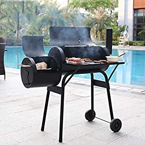 GYH-CHU Barbecue a carbonella di Fumo Offset Smoker Barbecue Pit Backyard (45,6 * 25,6 * 45,2 Pollici) 1 spesavip