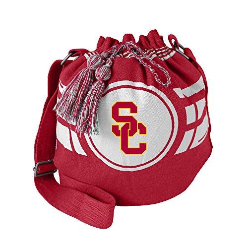 (Littlearth NCAA USC Trojans Ripple Drawstring Bucket Bag)