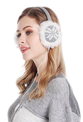 Earmuffs Snowflake Fluffy Warmers Headphones product image
