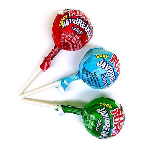 Slush Puppie Sour Jawbreaker Lollipop 40 count