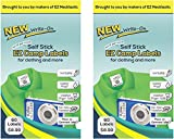 LABELS SELF-STICK WRITE-ON EZ CAMP LABELS (2-Pack/60 labels each) for Clothing and All Personal Items - 120 Total No-Iron Kids Clothing Labels - Washer and Dryer Safe