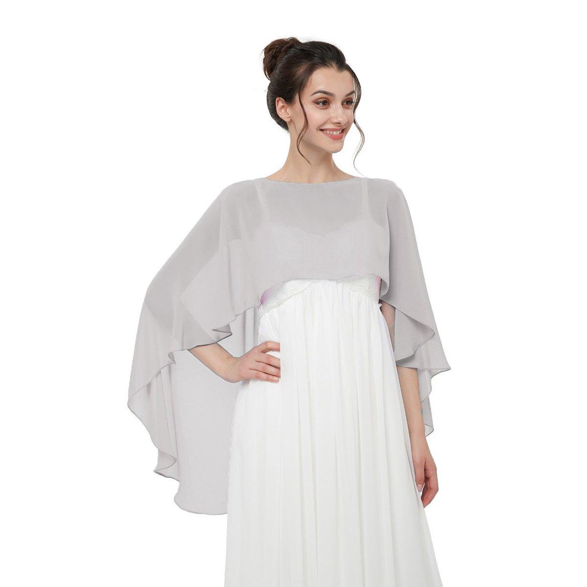CoCogirls Stola in chiffon per abiti in diversi colori, adatta a qualsiasi abito da sposa, da sera, da matrimonio, da gala o ricevimento