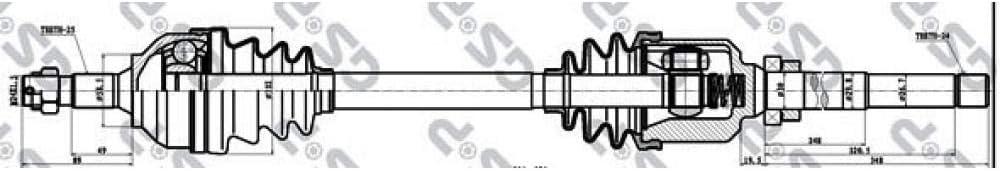 GSP 210143 Drive Shaft