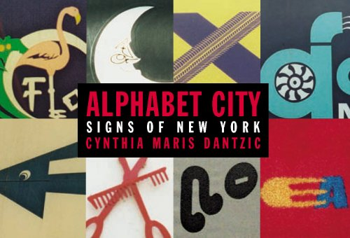 Alphabet City Signs of New York postcard book