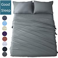Shilucheng Bed Sheet Set Microfiber 1800 Threads Egyptian Super Soft Sheets 16-Inch Deep Pocket - Hypoallergenic - 6 Piece Twin/Full/Queen/King/Cal King Size