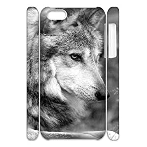 Fggcc wolf Pattern Case for 3D Iphone 5C,wolf Iphone 5C Phone Case