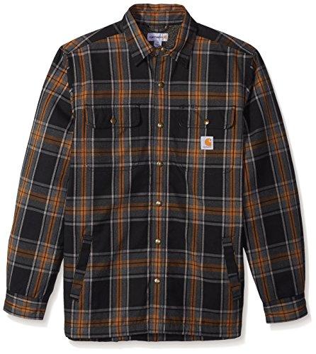 Carhartt Men's Hubbard Sherpa Lined Shirt Jacket, Black, 2X-Large