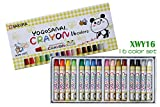 Sakura Washable crayons, Japan Yogosania Crayon series soft pastel color for kids, 16 color set (16 color set)