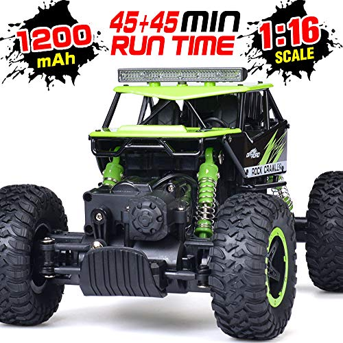 RC Car, NQD 1: 16 Dual Motors Remote Control Truck, 2.4Ghz 4WD Off Road Remote Control Car with Two Rechargeable Batteries, Buggy Hobby Toy for Kids & Adults (Best 1 5 Scale Rc 2019)