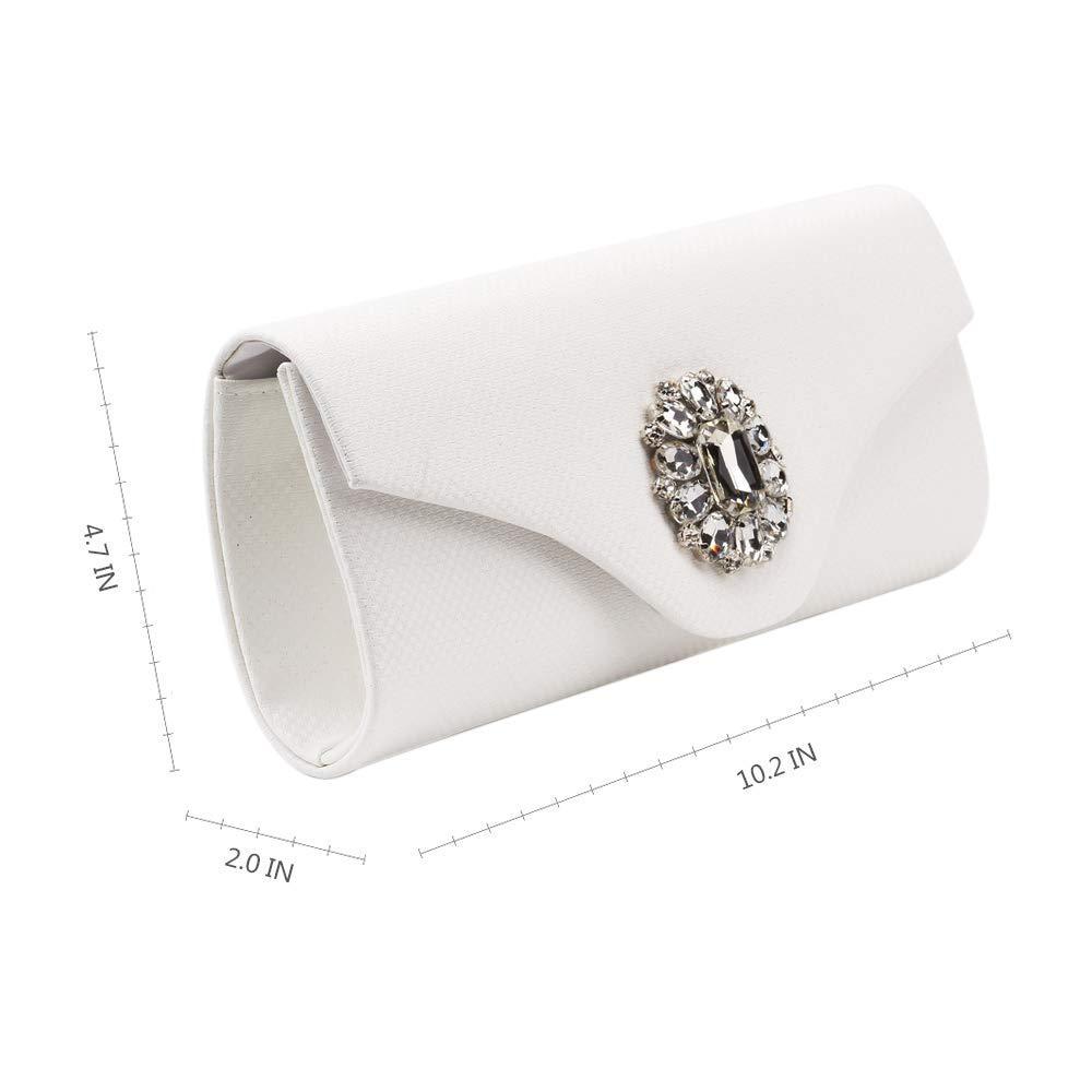 Marswoodsen Fashion Evening Clutches Purse for Womeen Rhinestone PU Leather Handbag for Cocktail Party Wedding