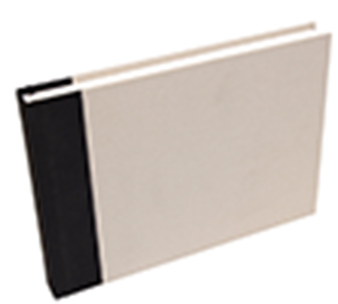 Clairefontaine A5 Canvas Cover Album, 180 g, 60 Pages, Black Cover 96040C