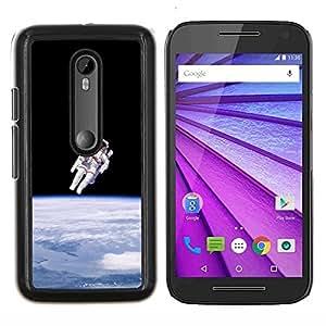 Espacio Astronauta Gravedad- Metal de aluminio y de plástico duro Caja del teléfono - Negro - Motorola Moto G (3rd gen) / G3