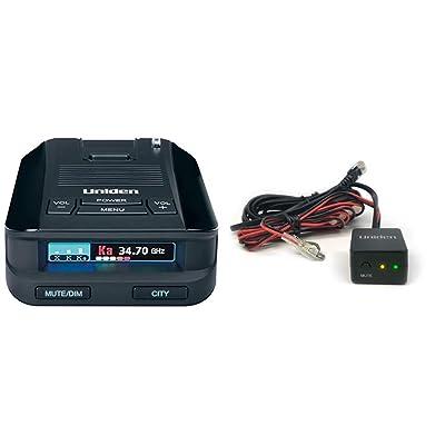 Uniden DFR8 Super Long Range Laser and Radar Detection & RDA-HDWKT Radar Detector Smart Hardwire Kit with Mute Button, LED Alert and Power LED