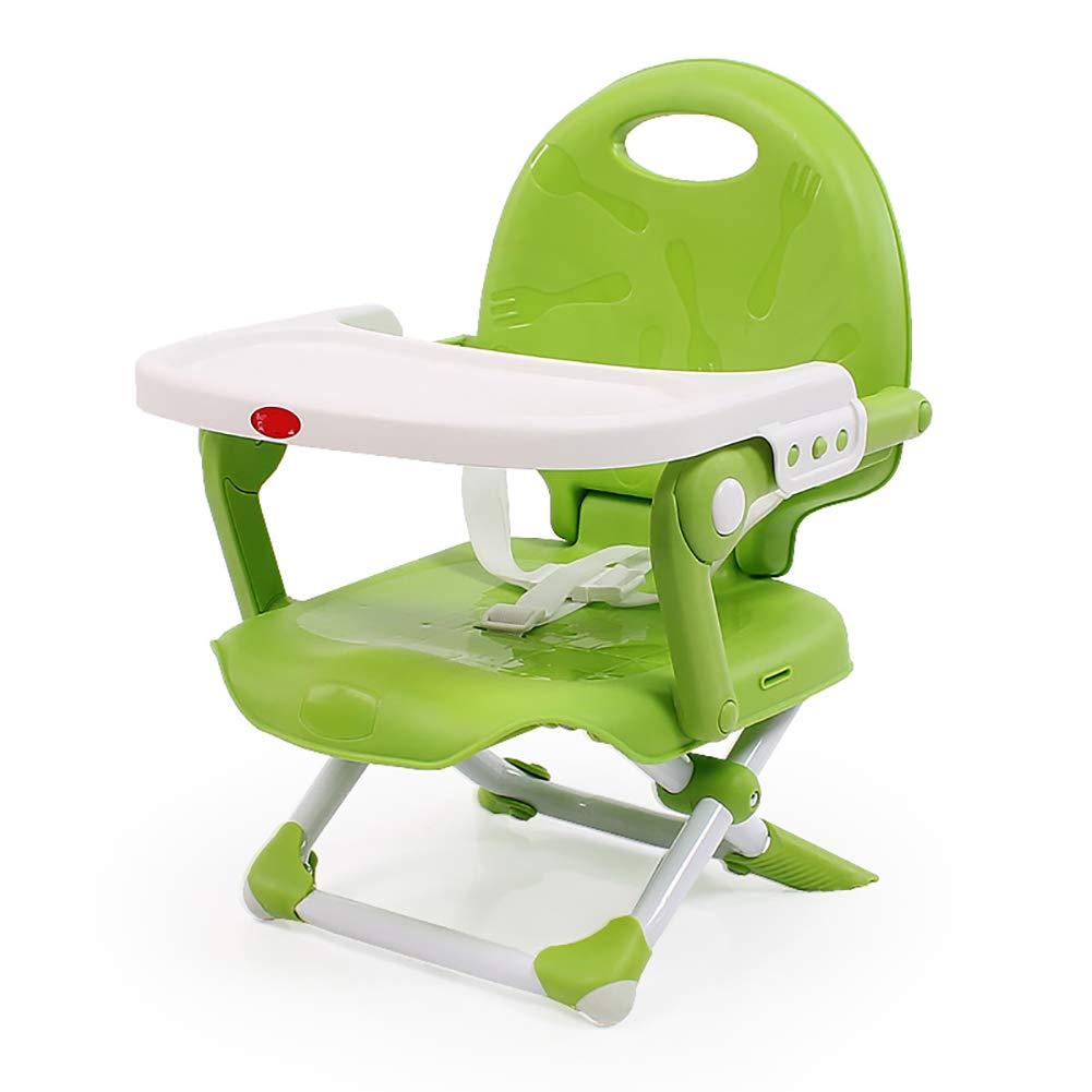 ベビーチェア ベビーブースターシートスペースセーバー幼児用椅子キッズ用ダイニングチェア(トレイはオプション) (色 : Green)  Green B07GJJMMFJ