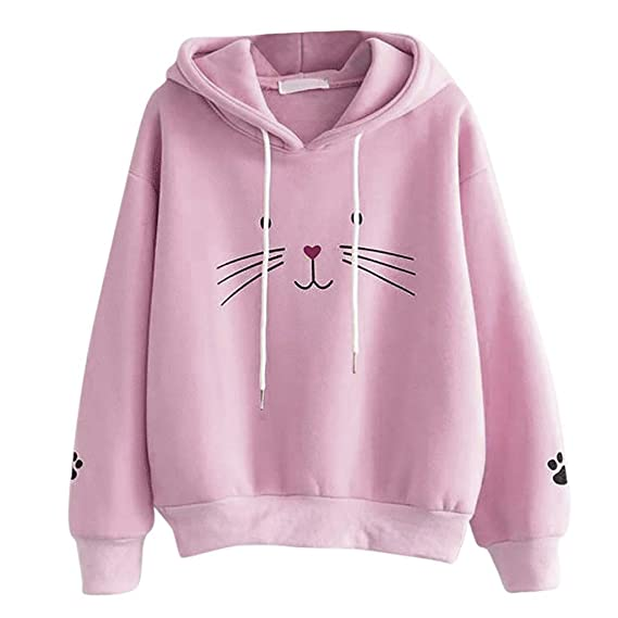 Iuhan Girl's & Women's Polyester Hooded Sweatshirt: Amazon.in: Clothing &  Accessories