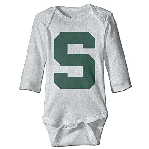 Price comparison product image OOKOO Baby's Michigan State Logo Block S Bodysuits Ash 24 Months