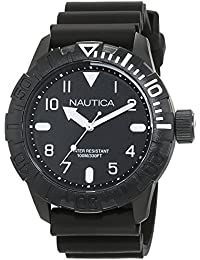 NSR 106 Black Dial Black Silicone Mens Watch NAD10081G