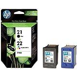 HP SD367AE - Cartucho de inyección de tinta HP 21/22 (cian, magenta, amarillo)