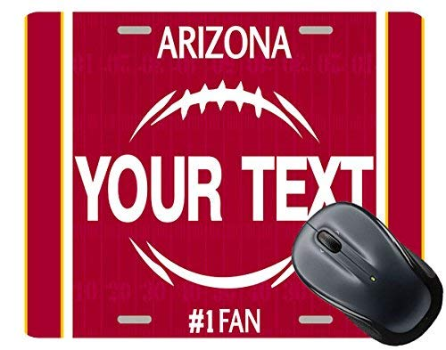 - BRGiftShop Personalize Your Own Football Team Arizona Square Mouse Pad