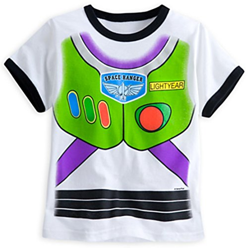 [Buzz Lightyear Costume Tee for Boys - Toy Story] (Buzz Lightyear Shirt Costume)