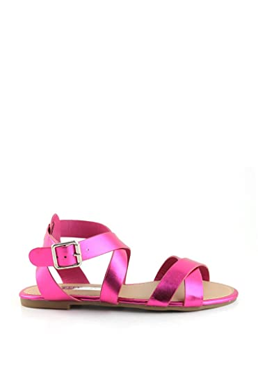 London Rag Women s Stripes Flat Sandals ...