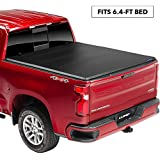 "Lund Genesis Tri-Fold Soft Folding Truck Bed Tonneau Cover | 95064 | Fits 2009 - 2019 Dodge Ram 1500 6' 4"" Bed"