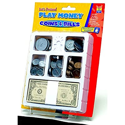 Educational Insights Lets Pretend Play Money Coins &