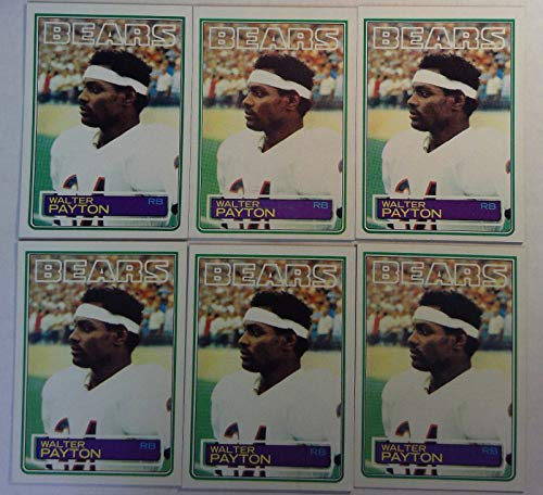 Topps Chewing Gum - Topps 1983 Walter Payton Bears Running Back NFL Football Cards # 36 Lot of 6