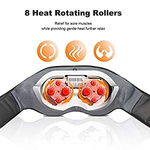 Shiatsu Neck & Back Massager with Heat - VIKTOR JURGEN Deep Tissue Kneading Sports Recovery Massagers for Neck, Back, Shoulders, Foot, Legs - Relaxation Gifts for Him/Her