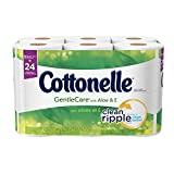 Cottonelle Gentle Care with Aloe and E Double Roll Toilet Paper, 204 ct