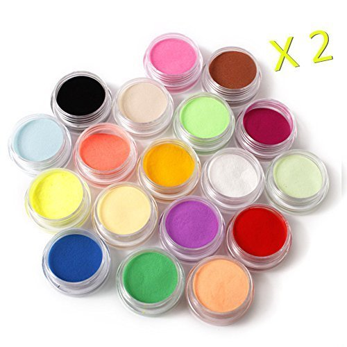 Warm Girl 36 Color Acrylic Powder Nail Art Tool Kit