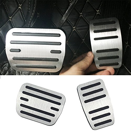 No Drill Pedal Covers for Ford F150, TTCR-II Non Slip Gas Pedals Brake Pedal pads for Ford F150 (2009-2014)