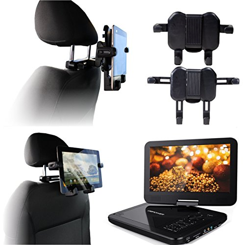 Navitech (Twin Pack) in Car Portable DVD Player Head Rest/Headrest Mount/Holder Compatible with The Docooler 9.5 Inch