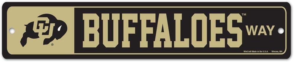 WinCraft Colorado Buffaloes Official NCAA 3.75 X 19 Street Wall Sign 3.75x19 167316