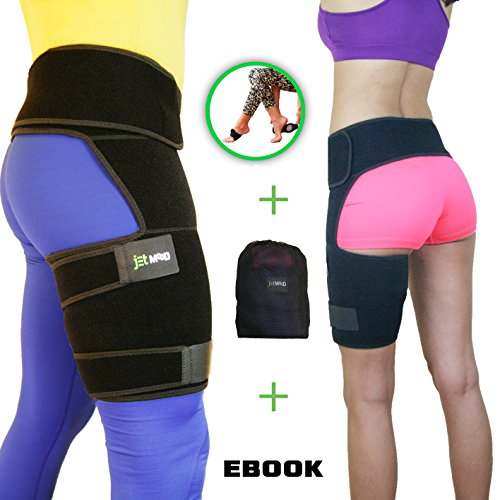 Hip Support Brace - Compression Groin Support for Men Women - Hip Stabilizer - Sciatic Nerve Pain Relief - Hip Flexor Brace - Hip Arthritis - Adjustable Thigh Compression Sleeve - Muscle Recovery by JetMooD