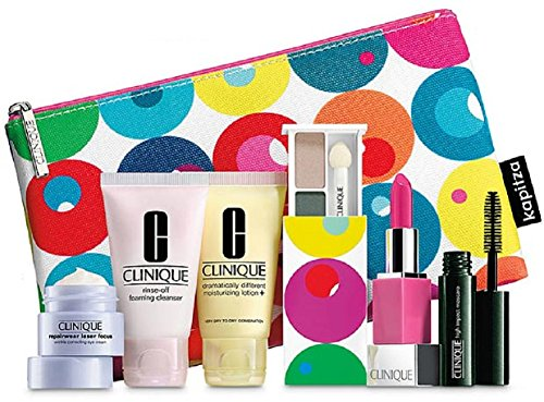 Clinique 7pc Make up & Skin Care Gift Set Bold Pops/punch Ne