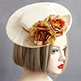 Gothic Forest Style Vintage Flowers Grenadine Bridal Hat/Photo Props/Formal Party Top Hats Vintage Kangsanli