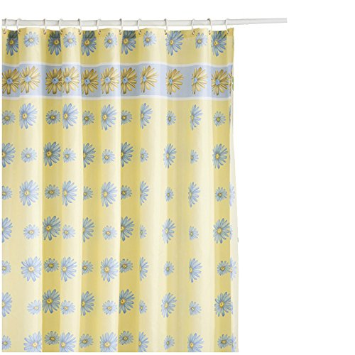 S-ZONE Printed blue orchid flower,Mildew Proof Polyester Fabric 72x72 Inch Shower Curtain