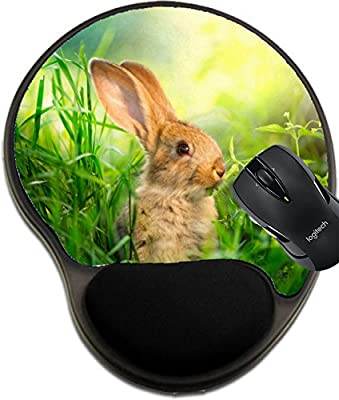 MSD Mousepad wrist protected Mouse Pads/Mat with wrist support Rabbit Art Design of Cute Little Easter Bunny in the Meadow Image 20934478 Customized Tablemats Stain Resistance Collector Kit Kitchen T